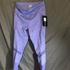 Purple ankle leggings With pockets, size medium